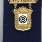 US Navy Distinguished Pistol Shot badge in gold
