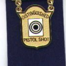 USMC Marine Corps Distinguished Pistol Shot badge in gold