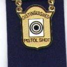 USMC Marine Corps Distinguished Pistol Shot badge in gold