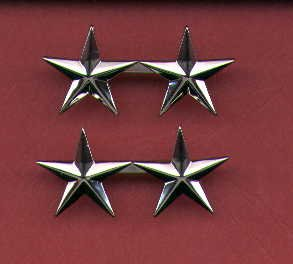 Pair of Two Star General's Rank insignia
