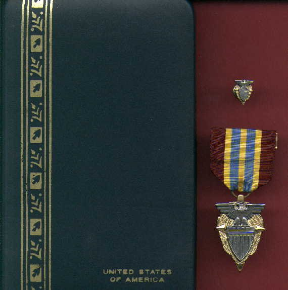 Defense Logistics Agency DLA Meritorious Civilian Service Award medal in case with lapel pin
