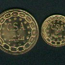 CSA Confederate $5 and $20 gold coins dated 1861