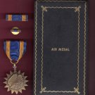 WWII Air medal in case with ribbon bar and lapel pin Army Air Corps AAC