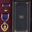 SALE PENDING-WWII Purple Heart medal in case with ribbon bar and lapel pin Serial Numbered