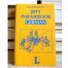 German, Langenscheidt's Jiffy Phrasebook