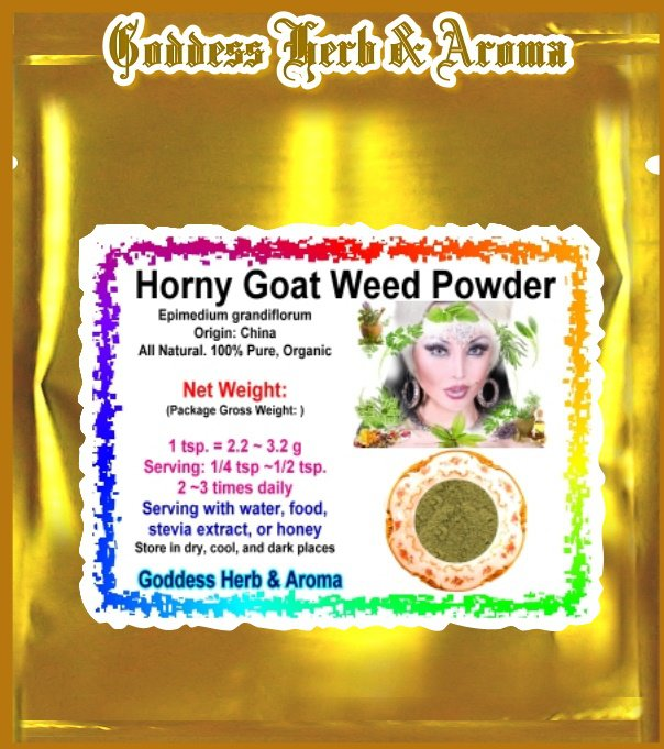 Horny Goat Weed Powder (Epimedium grandiflorum) Organic Grown All Natural - 2 LBS