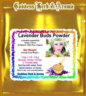 Lavender Flower Buds Powder (Lavandula angustifolia) France Organic Grown All Natural - 1 LB