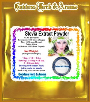 Stevia Extract white powder 93% (Stevioside) Organic Grown All Natural - 2 LBS