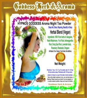 HYPNOS GODDESS Aroma Night Tea Powder Organic Grown All Natural - 1 LB