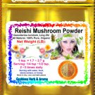 Reishi Mushroom Powder (Ganoderma lucidum, Ling Zhi) Organic Grown All Natural - 1 LB