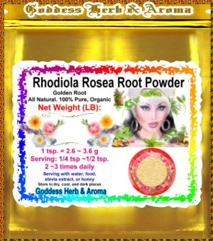 Rhodiola Rosea Root Powder (Golden Root) Organic Grown All Natural - 2 LBS