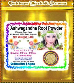 Ashwagandha Root Powder Indian Withania Somnifera Organic Grown- 1 LB