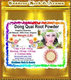 Dong Quai Root Powder China (Angelica sinensis) Organic Grown All Natural Wild Crafted - 1 LB