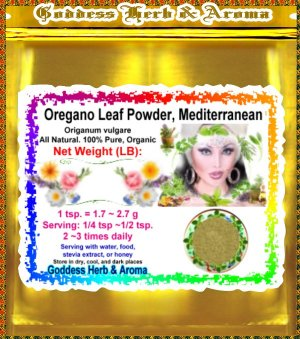 Oregano Leaf Powder, Mediterranean (Origanum vulgare) Turkey Organic Grown - 1 LB