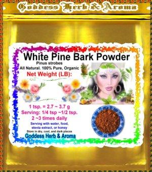 White Pine Bark Powder (Pinus strobes) Organic Grown All Natural - 1 LB
