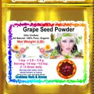 Grape Seed Powder (Vitis Vinifera) Organic Grown All Natural - 1 LB
