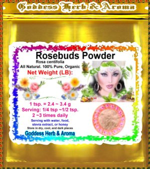 Rosebuds Powder (Rosa centifolia) Chile Organic Grown All Natural - 1 LB