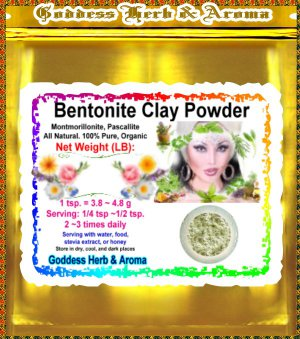 Bentonite Clay Powder (montmorillonite, Pascallite) Organic Grown All Natural - 1 LB