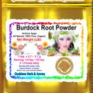 Burdock Root Powder (Arctium lappa) Organic Grown All Natural - 1 LB