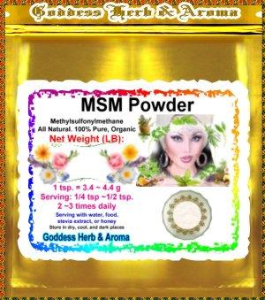 MSM Powder (Methylsulfonylmethane) Organic Grown All Natural  - 1 LB