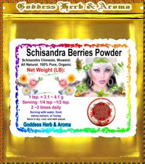 Schisandra berries powder (Schisandra Chinesis, Wuweizi) Organic Grown All Natural - 1 LB