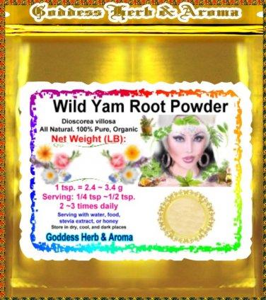 Wild yam root powder (Dioscorea Villosa) Organic Grown All Natural Wild Crafted 100% Pure - 1LB