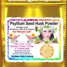 Psyllium Seed Husk Powder (Plantago ovata) Organic Grown All Natural Wild Crafted 100% Pure- 1 LB