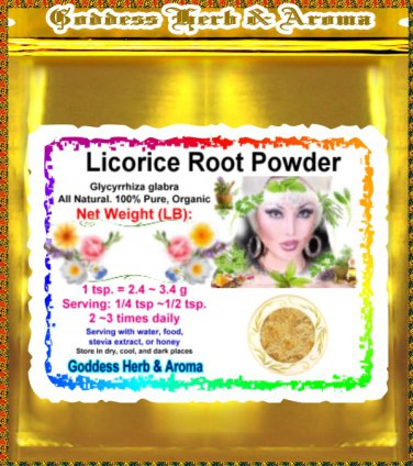 Licorice Root Powder (Glycyrrhiza glabra) Organic Grown All Natural Wild Crafted 100% Pure - 1LB
