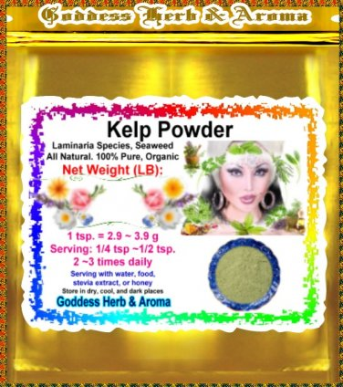 Kelp Powder (Laminaria species) Organic Grown All Natural - 1 LB