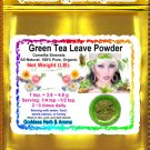 Green Tea Leave Powder Camellia sinensis China Organic Grown All Natural Culinary - 1 LB