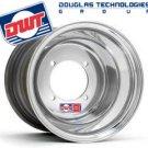 Polished Douglas 10x8  3+5 4/136 Ruckus Fatty Rim