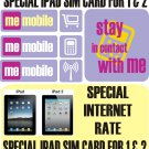 Spanish DATA MOVIL 3G SIM CARD FOR IPAD SIM CARDS FOR  1,2 AND 3