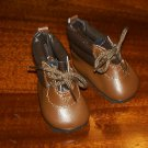 "Brown hiking boots from Monique trading Corp. for 18"" American Girl style Dolls"