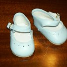"Light blue simple mary jane shoes from Monique trading Corp. for 18"" American Girl style Dolls"