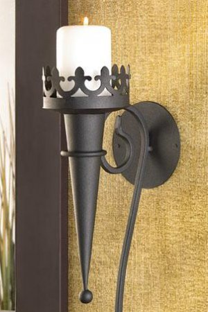 Pair of Gothic Medieval Candle Wall Sconces