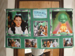 WIZARD OF OZ-THE GREAT & POWERFUL OZ PANEL-QUILTING TREASURES-SEWING-QUILTING
