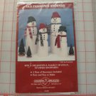 OLD FASHIIONED SNOWMEN PATTERN-4 SIZES-CUTE DESIGN