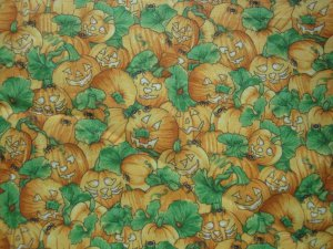 HAPPY PUMPKINS STACKED IN ALL OVER DESIGN-FAT QUARTER