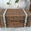Decorative Wicker Suitcase With Canvas Straps