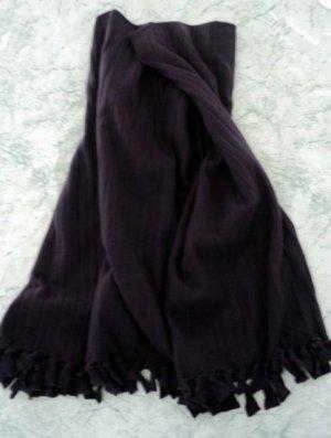 Ribbed Purple Fleece Throw