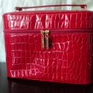 Red Faux Croc Tote