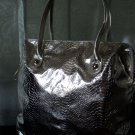 Metallic Gold Embossed Snake Print Tote
