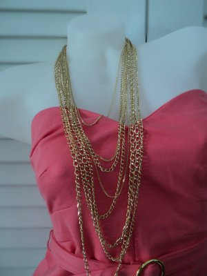 Gold Multi-Strand Necklace
