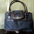 Silver Accent Denim Handbag