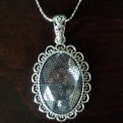 Crystal Oval Pendant Necklace