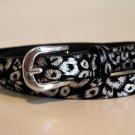 Slim Foil Leopard Print Belt