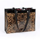 Shiny Leopard Print Tote