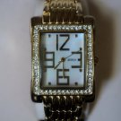 Gold-Tone Swarovski Crystal Bezel Watch