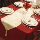 Holiday Tasseled Table Runner