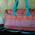 Bright Striped Weekender Tote With Detachable Strap